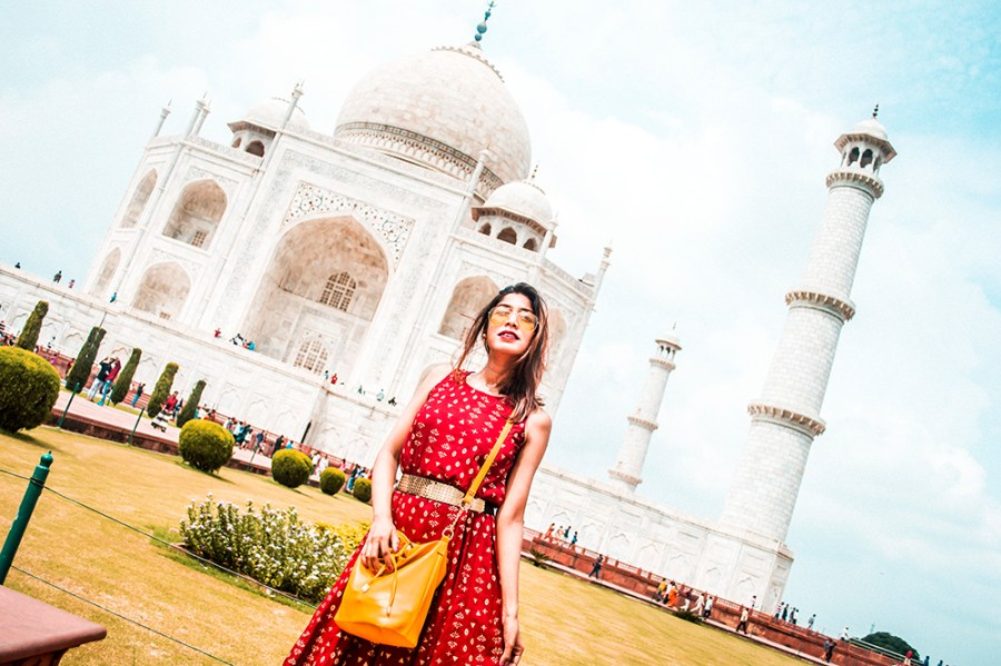 Style Over Coffee, Taj Mahal, Travel, India, Fashion Blogger, Influencer, Ethnic Dress, Sarmistha Goswami, Indian Blogger, Agra, Maroon Dress-4