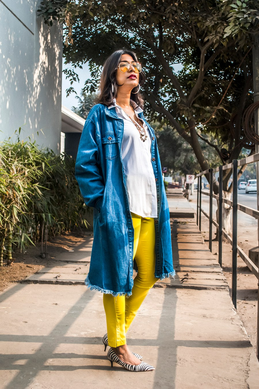 2021, Fashion, Style, Fashion Blogger, Indian Influencer, Beauty, Styling Tips, Yellow Pants, Denim, Winter Style-2