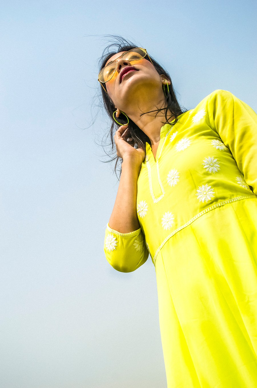 Spring style, Indian Wear, neon color, neon green, Indian outfit, Indian Blogger, Fashion, Style, Indian Fashion Blogger-3