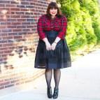Plus Size Plaid Skirt