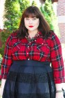 Plus Size Red and Black Plaid Shirt
