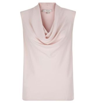 HOBBS LONDON AVA COWL TOP pink