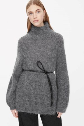 COS HIGH-NECK JUMPER grey (full price in this colour but not in black)