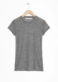 &Other Stories Sheer Wool T-Shirt grey (100% wool)
