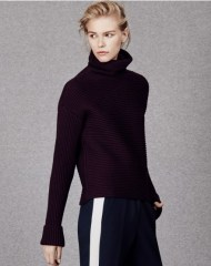 ME+EM RIBBED FUNNEL NECK JUMPER dark merlot