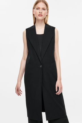 COS SLEEVELESS BLAZER black.