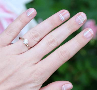 Tartan manicure
