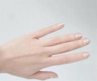 White stripe manicure