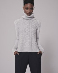 me+ em-cable-weekend-jumper 100%-merino-wool-grey-marl