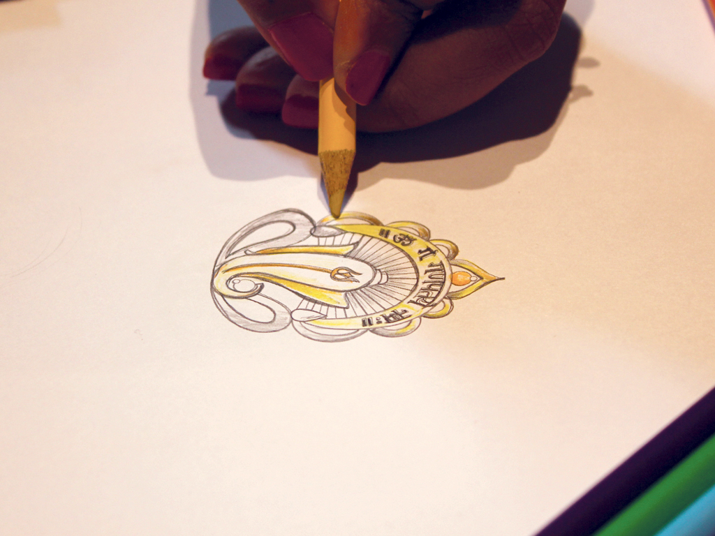 Designer Sketching Ganesha Before Its Manufacturing Process. PC-Orra.