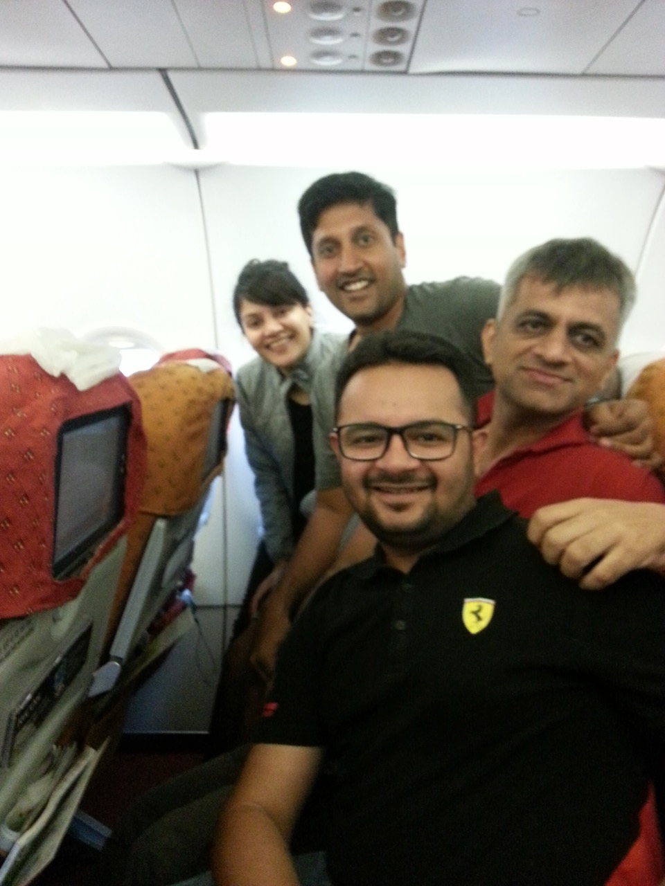 Kuntal, Me, Brijen, Yash, back to base - Mumbai.