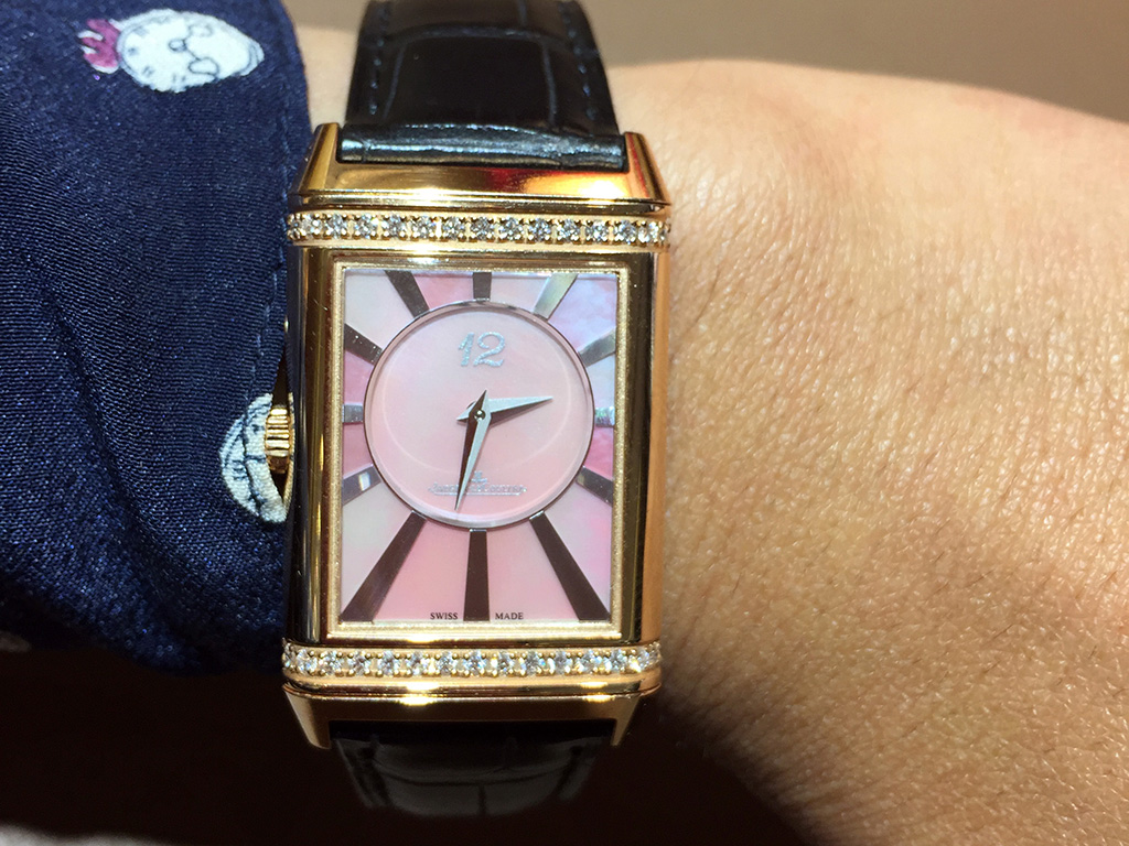 JLC Reverso with Mother of Pearl and Diamonds