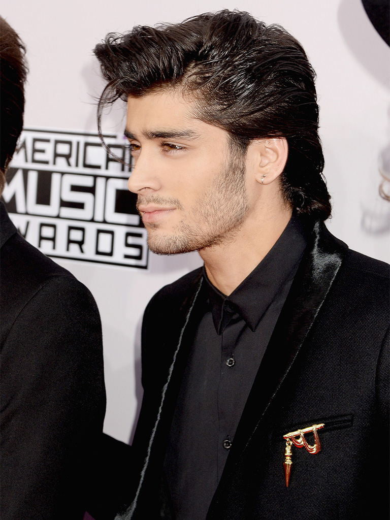 Zayn Malik's Colored Brooch. PC- popsugar.com.au