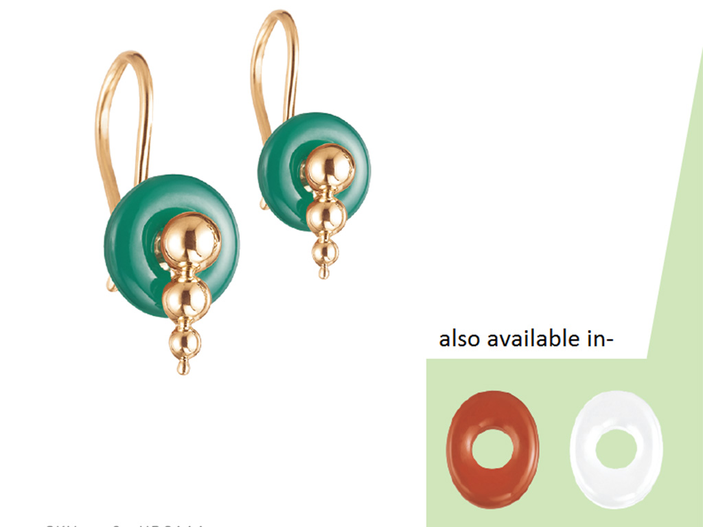 Tri-color Changeable Earring from Tanishq.