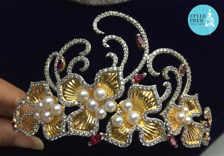 Tiara- Diosa By Darshan Dave, Designed Exclusively For Gemvisions Trend Book By Swarovski Gemstones.