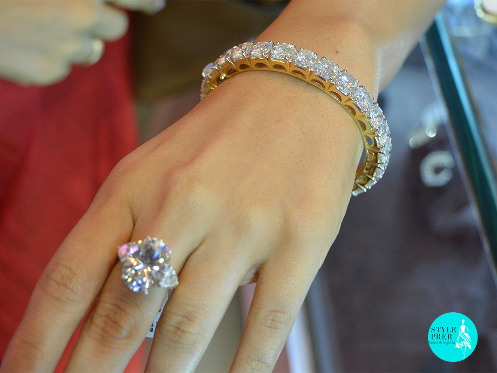Moissanite Solitaire Bangle- Fiona Solitaires