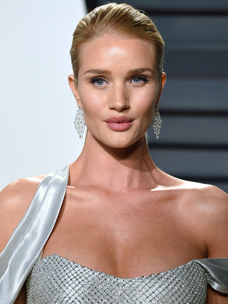 Rosie Huntington Whiteley Looks Flawless in Celestial Diamond Earrings By Nirav Modi. PC- Harper's Bazaar