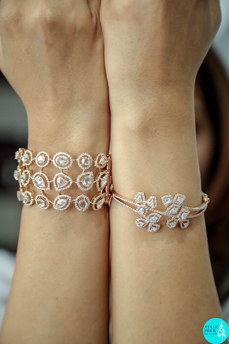Rose Cut And Fancy Diamonds Set In Rose Gold From Dhadda Designer Diamond Jewellery