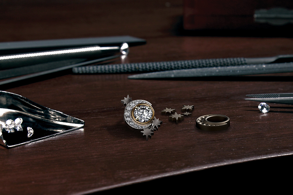 Diamonds Being Set In The Mould Of A Forevermark Artemis Collection. PC-Sawansukha Jewellers