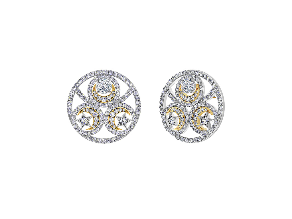 Inspired From The Sun And Stars Are Diamond Earring From The Forevermark Artemis Collection. PC-Sawansukha Jewellers