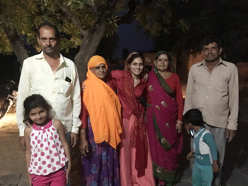 Shooting In Kilkipura Near Jaipur, Rajasthan In India With The Local Villagers (L-R) Babulal Bagda, Gulab Devi, Nanki Devi, Nath Lal Bagda And Their Grandchildren.