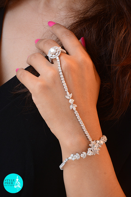 Classic Hand Harness Set With Round And Fancy Shaped  Forevermark Diamonds By Hazoorilal Legacy