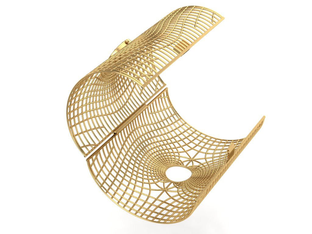 Side View Of The Gold Cuff