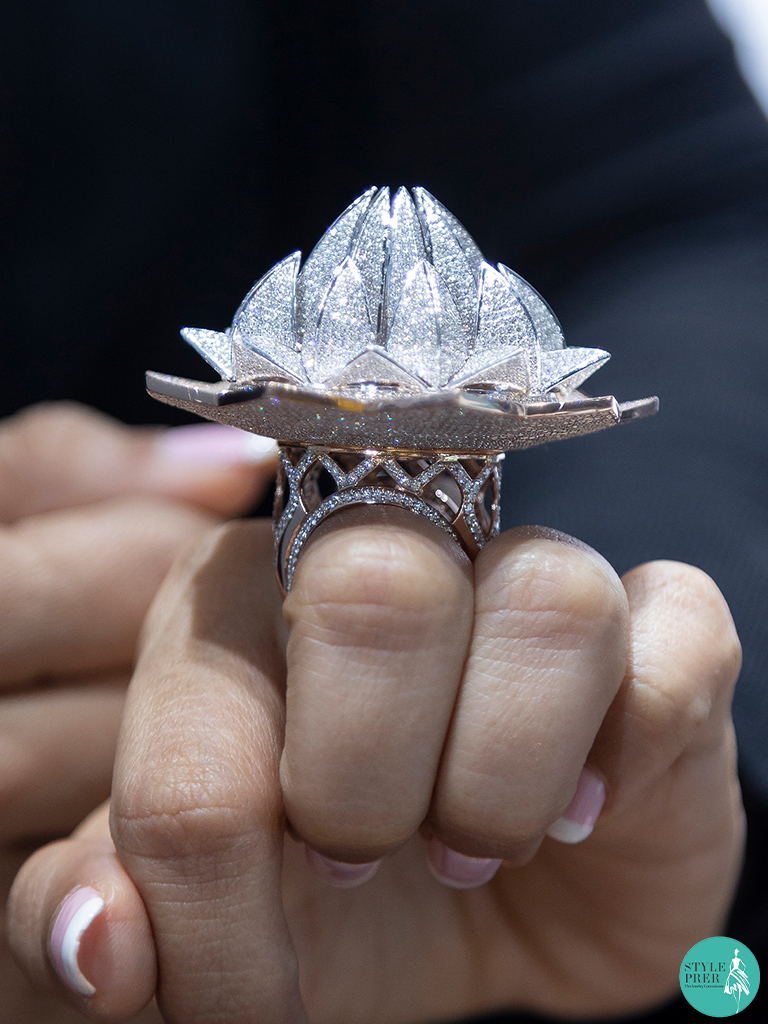 Guinness Book of World Record holder Lotus Temple Ring from Lakshikaa Jewels at IIJS 2019