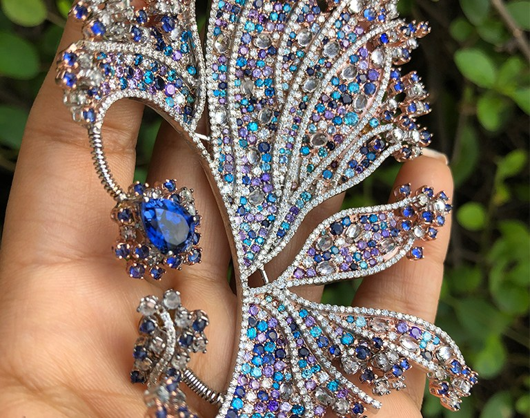 Diamond And Gemstone Ear Cuff By Tara Fine Jewels At Couture India Show