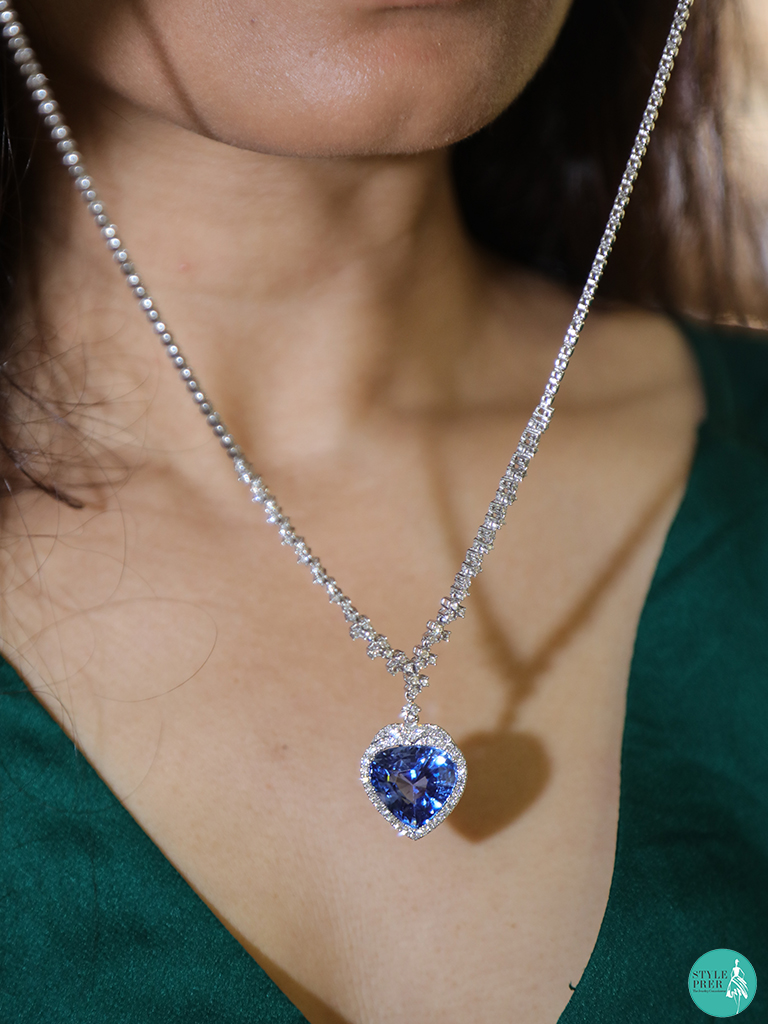 Blue Sapphire And Diamond Necklace By Bullion Exchange