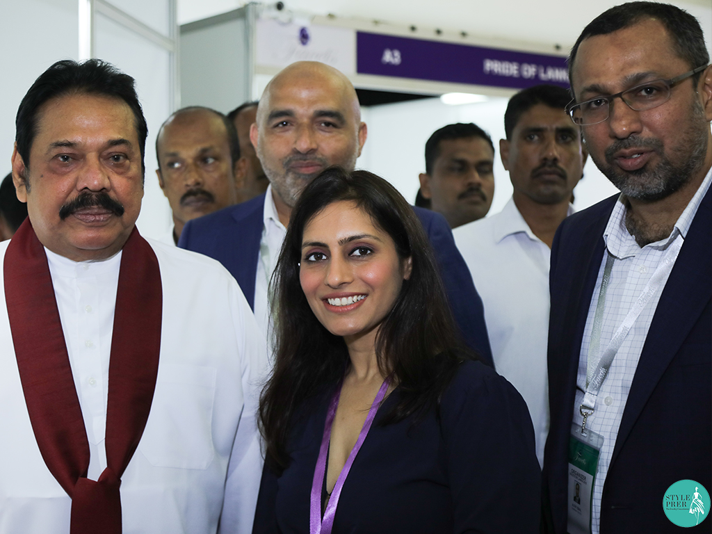Ms. Prernaa Makhariaa with Mr. Mahinda Rajadaksa and Mr. Altaf Iqbal