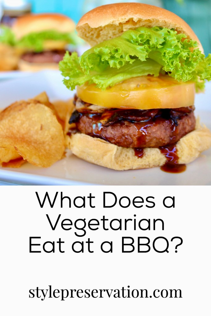 What does a vegetarian eat at a BBQ?