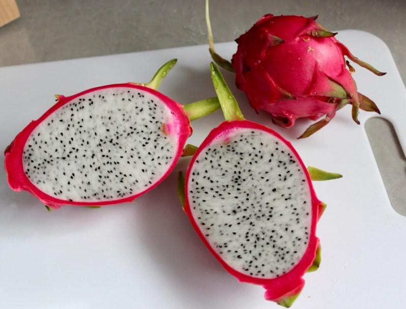 Dragon fruit with white flesh