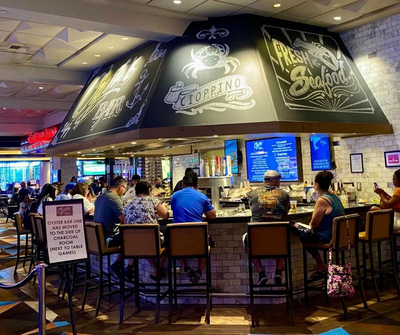 Oyster Bar at Palace Station shot of the bar