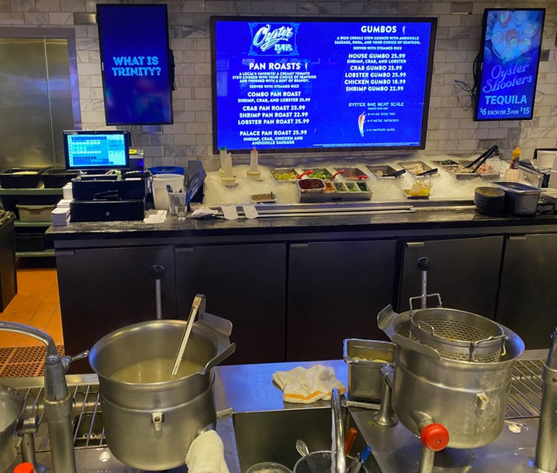 Picture of the cooking station