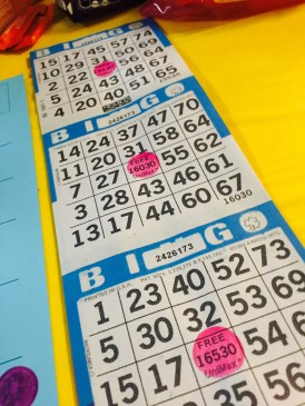 Each game had a sheet which displayed three playing boards. Players could purchase multiple boards in order to increase their chances at winning.