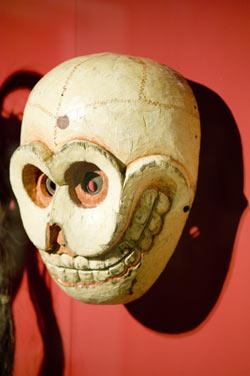 A skull mask from Bhutan
