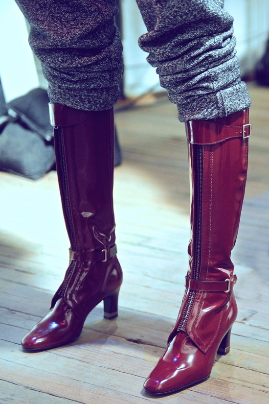 Tommy Hilfiger Fall Winter 2012 Boots Backstage