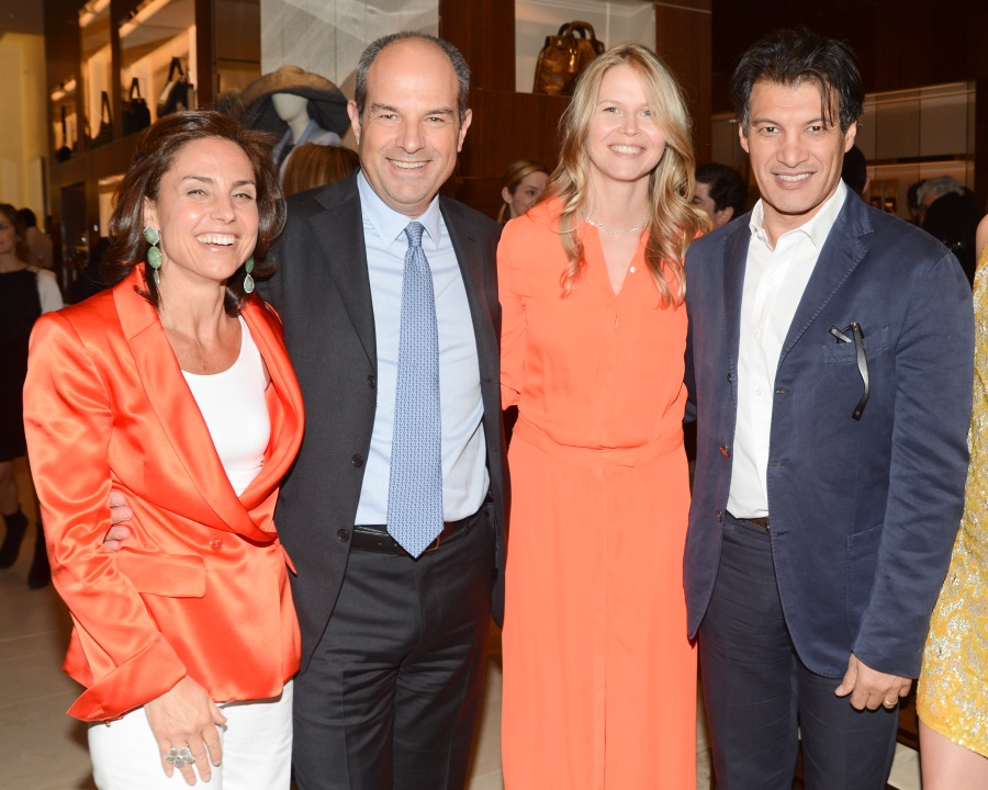 Salvatore Ferragamo Fifth Avenue Flagship  Chiara Ferragamo, Massimo Ferragamo, Shirin von Wulffen, Frederic Fekkai