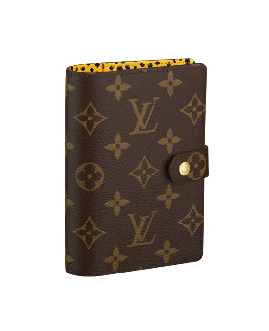 Yayoi Kusama Louis Vuitton Small Cover Agenda interior Infinity Nets yellow