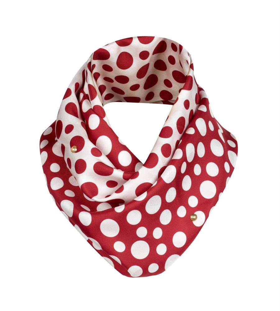 Yayoi Kusama Louis Vuitton Snood Dots Infinity red