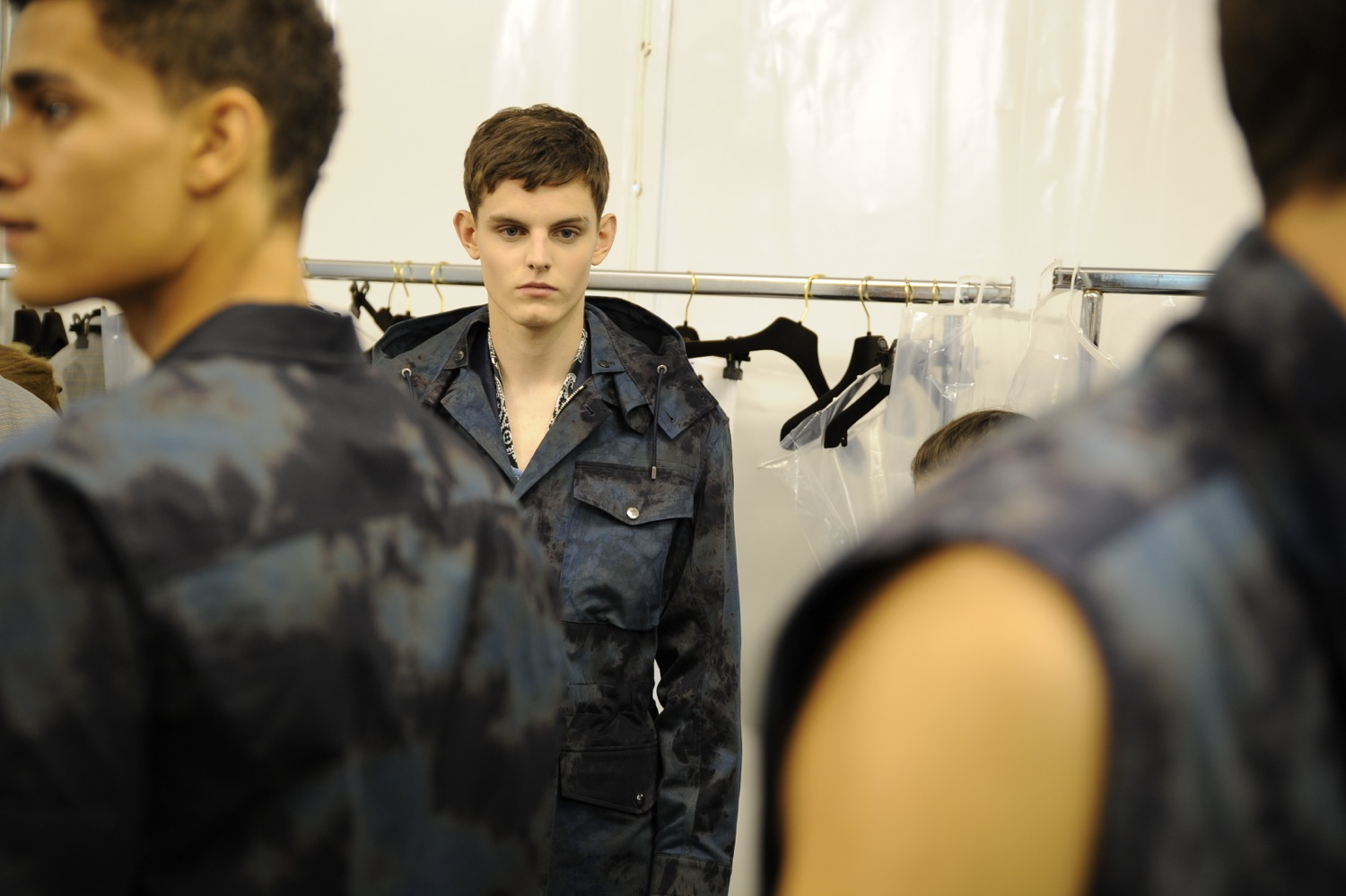 Backstage at the Louis Vuitton Men Spring Summer 2014 Show 11