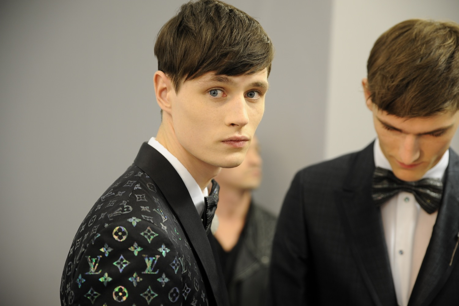 Backstage at the Louis Vuitton Men Spring Summer 2014 Show 18