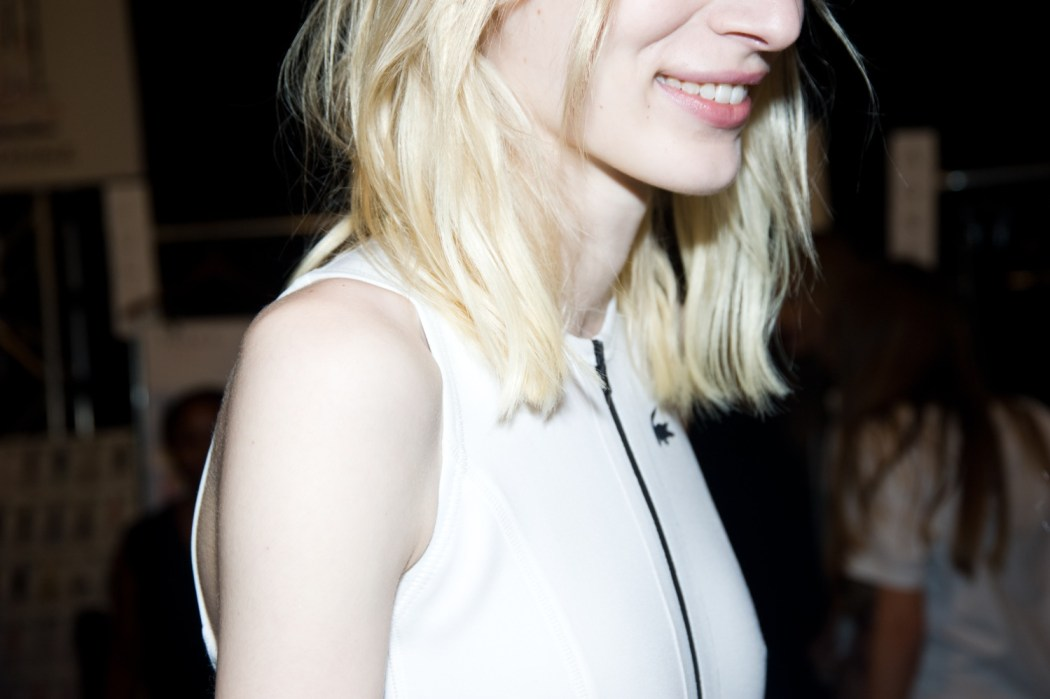 Backstage at the Lacoste Spring Summer 2015 Show 2