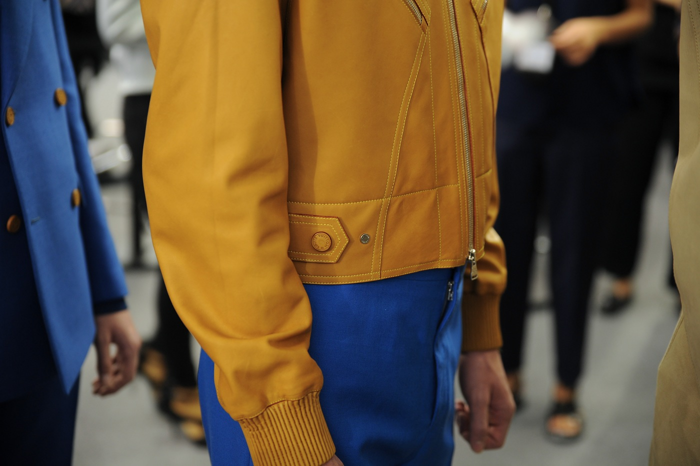 Backstage at the Louis Vuitton Menswear Spring 2015 Show 41