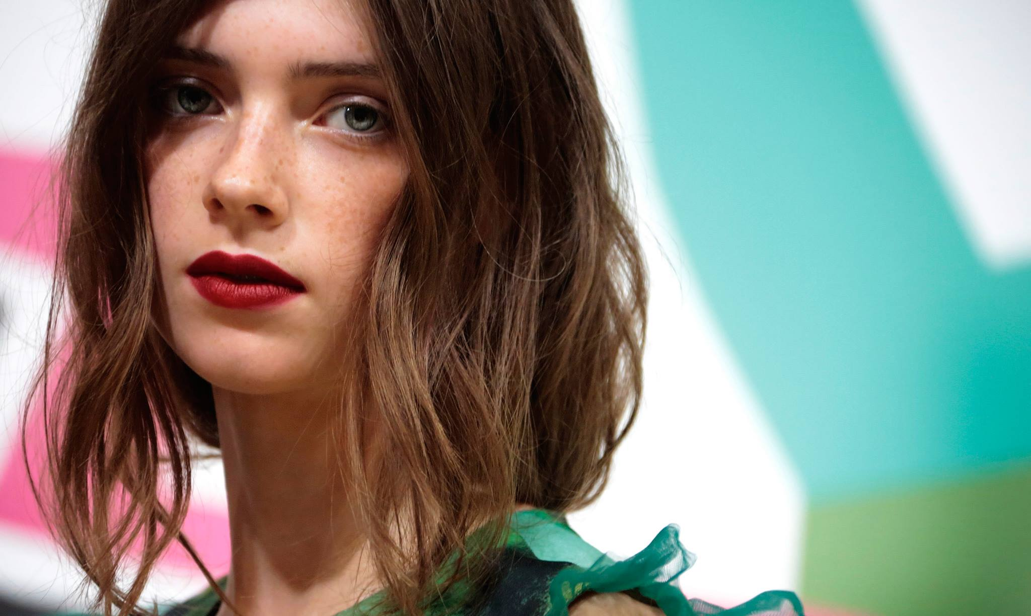 Backstage at the Burberry Prorsum Spring 2015 Show 3