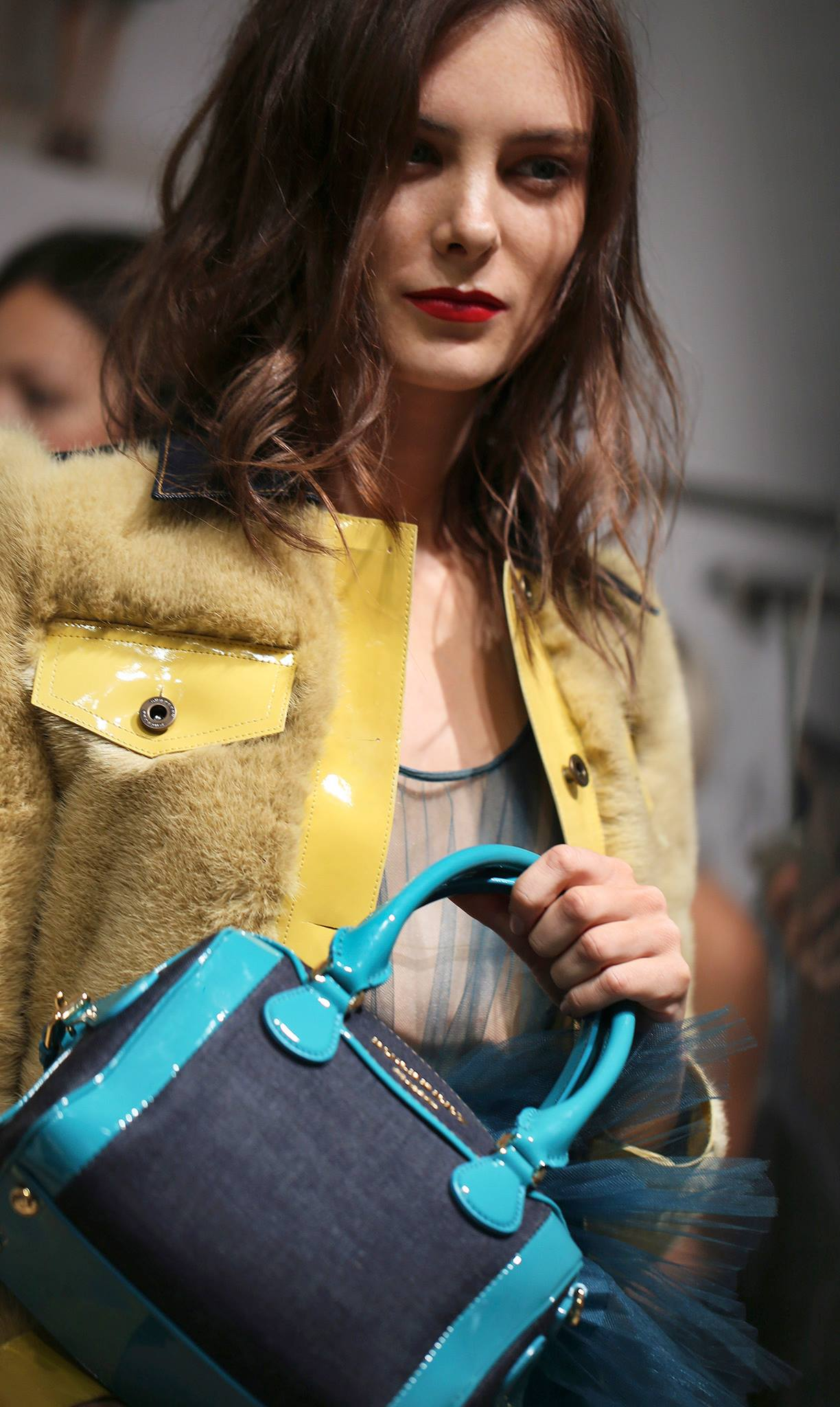 Backstage at the Burberry Prorsum Spring 2015 Show 8