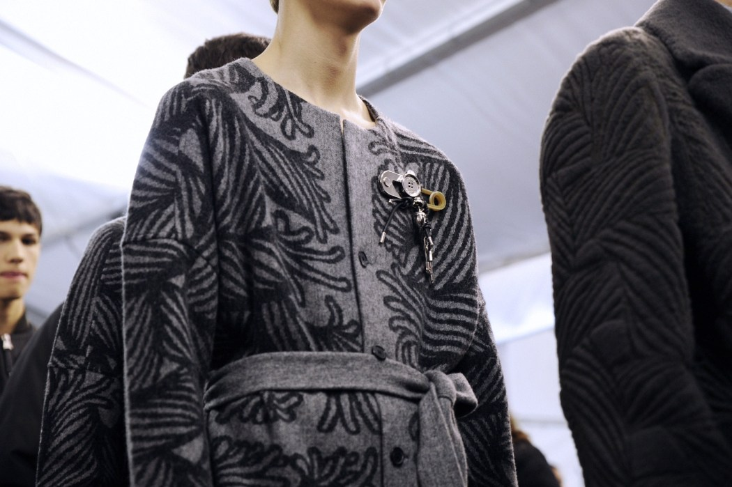 Backstage at the Louis Vuitton Menswear Fall Winter 2015 Show 41