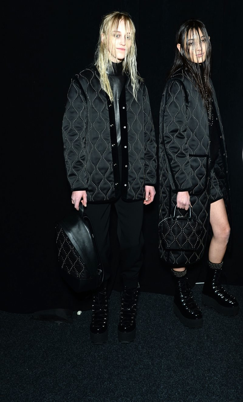 Backstage at the Alexander Wang Fall Winter 2015 Show 4