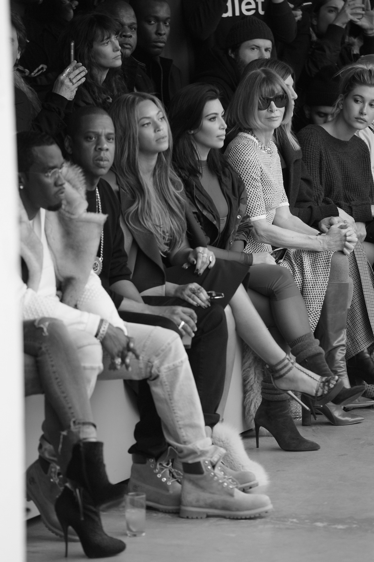 efc270b0c7d9a adidas Originals x Kanye West YEEZY SEASON 1 - Runway  Sean Diddy Combs  Jay-Z Beyonce Kim Kardashian and Anna Wintour attend the adidas Originals  ...